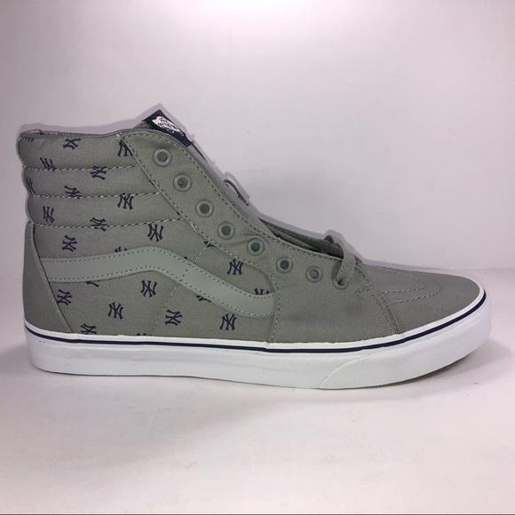 9218d78d89 Vans MLB SK8 HI New York Yankee Gray Sneakers
